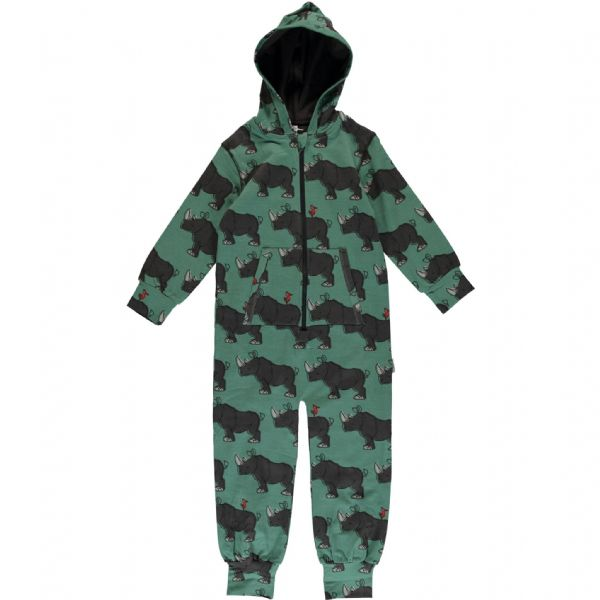 Maxomorra Hooded Onesie Rhino